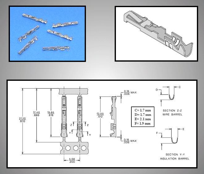 Egysoros csatlakozó tű (ónozott) CSAT-10M00