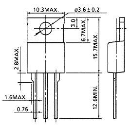Tranzisztor N-MOSFET 600V 6A 80W <1.25R (3A) 2SK2544 2SK2544