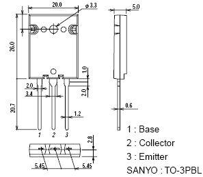 SI-N 1600/800V 25A 250W 0.1uS 2SC5047