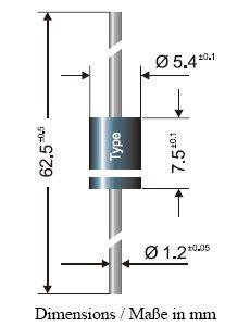 SI-Z 12V 1.5kW unipoláris szupresszor DO-201 1.5KE12A -