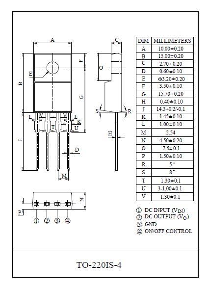 POS.V-REG 5V 2A +SW 4p.TO220IS-4 KIA278R05PI