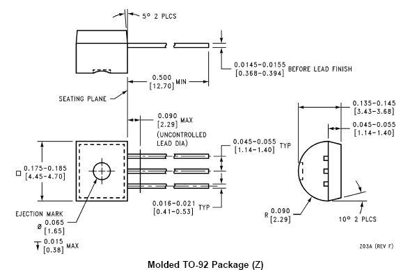 PREC.TEMP.SENSOR TO92 LM335Z-NSC