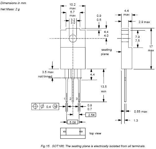 Tranzisztor NPN 1000/450V 5A/10Ap 32W 145nS BUT11APX BUT11APX