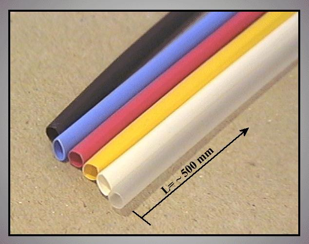 Zsugorcső 2:1, 6.4mm->3.2mm 6színű 6x50cm KK ASSY 6.4