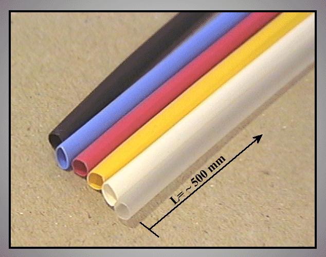 Zsugorcső 2:1, 12.7mm->6.4mm 6színű 6x50cm KK ASSY 12.7