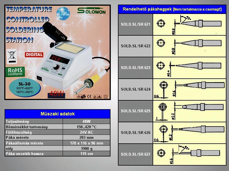 Forrasztópáka állomás 48W (digitális) SOLD.SL30N