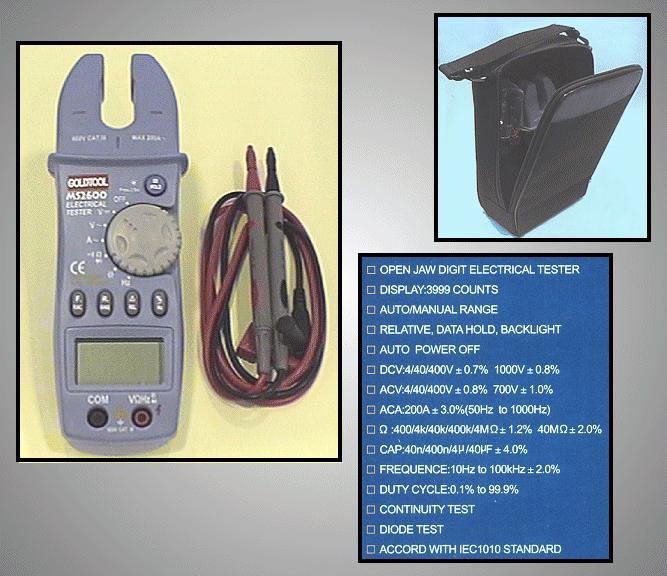 DIGITAL METER 200A (lakatfogó) M.M-GTMS2600