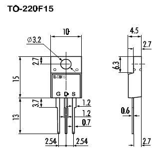 Tranzisztor N-MOSFET 800V 4A/16Ap. 40W 4R 2SK2647 2SK2647 -
