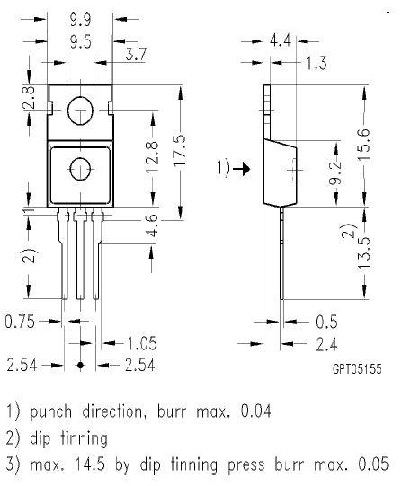 N-IGBT 1200V 22A 125W Vce(sat)2.5V BUP212