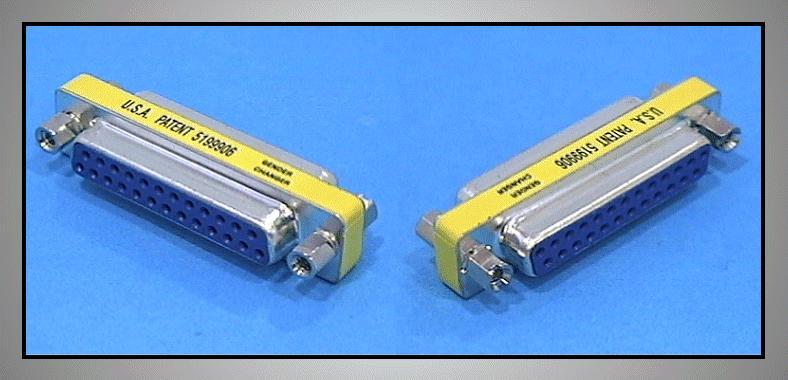 RS232 MINI toldó 25-25p aljzat / aljzat GCM-25F25F