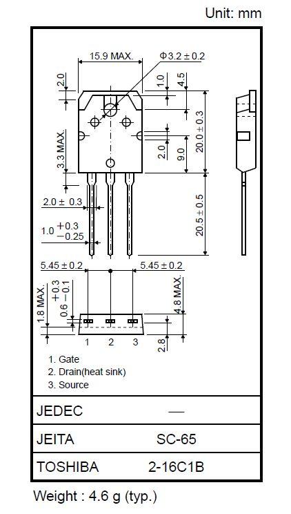 N-MOS 900V 9A/27Ap 150W 1.1R 2SK1358 -