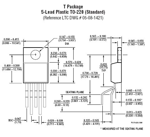 Fast ±150mA Power Buffer, TO220 5p. LT1010CT