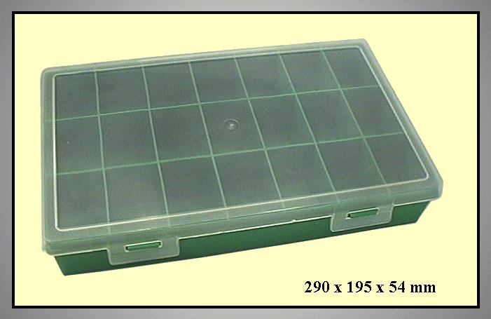 Műanyag tároló doboz 21rek.290x195x54mm BOX-003