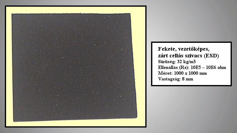 ANTISZTATIKUS (ESD) szivacs 1000x1000x6mm ASF/B 100/100