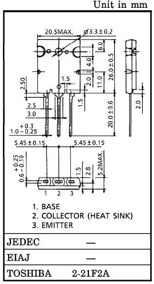 Tranzisztor NPN 1500/600V 20A 200W 0.12uS 2SC5445 2SC5445