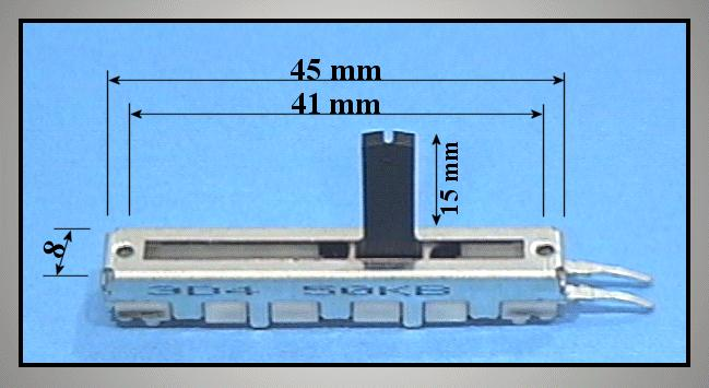 Potméter 50K B toló S.L=45mm POT.T 50K/B 201