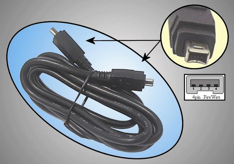 IEEE1394<->IEEE1394 kábel 1.8m CABLE IEEE4/4