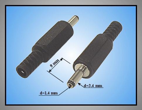 DC dugó L=38mm 3.4x1.4x 9mm+T CSAT-P0034/14 T