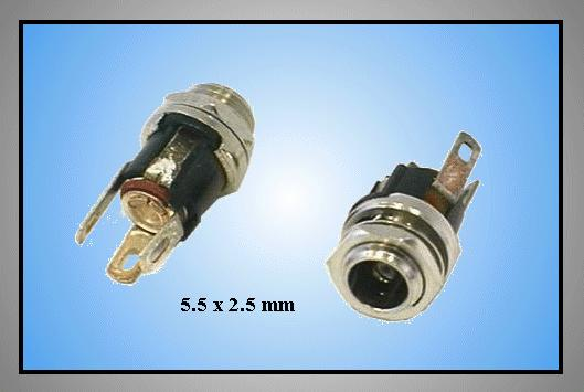 DC aljzat 2.5x5.5mm (csavaros) CSAT-P008/2.5