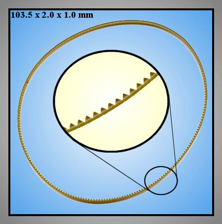 TIMING BELT PANASONIC VDV0169 BV-1007