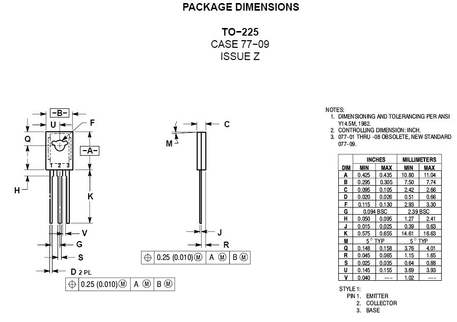 SI-P 300V 0.5A 20.8W 10MHz VID TO-225 MJE350-ONS