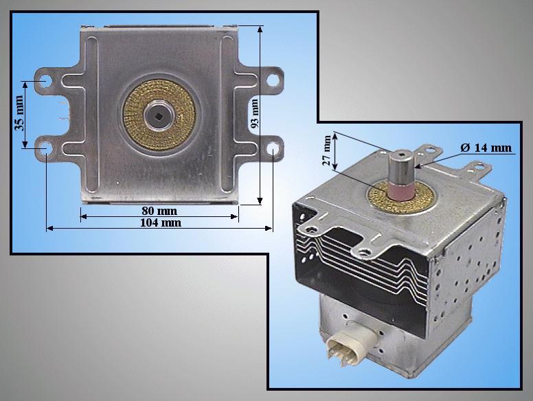 Miele mikrosütő magnetron 2M240H(L) MAGNETRON 002
