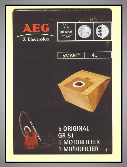 Porszívó papír porzsák 5db+1+1 Type:GR51 W7-00410