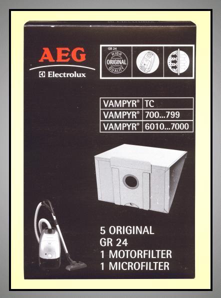Porszívó papír porzsák 5db+1+1 Tipe:GR24 W7-00404