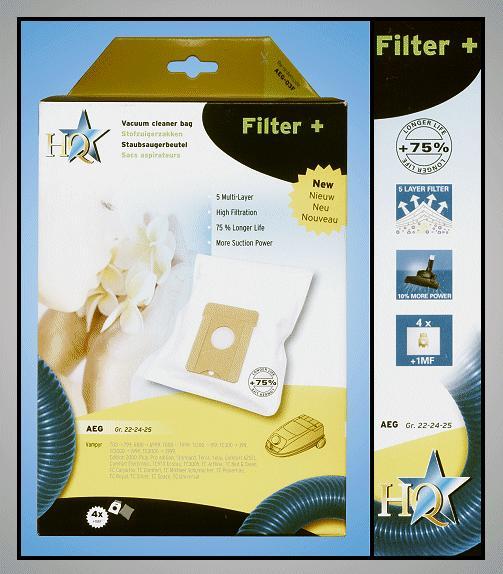 Porszívó papír porzsák 4db+1 Tipe:GR24 W7-00404/R5