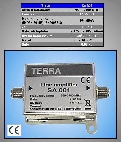 Antenna erősítő SATELIT 1-IN 1-OUT ANT AMP F-SAT
