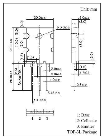 Tranzisztor NPN 1500/600V 17A/30Ap 150W 0.2uS 2SC5583 2SC5583 -