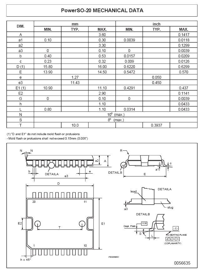 0.5A high-side driver quad intelligent power sw. 20p SMD L6376D