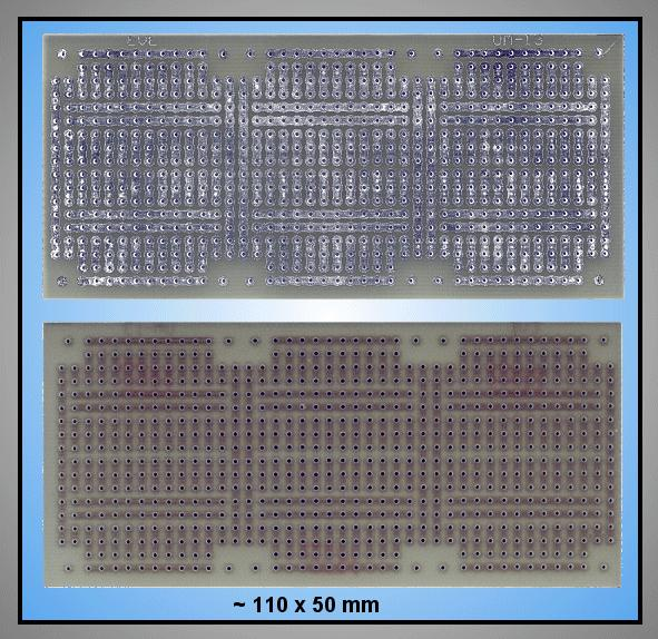FR4 próbapanel 110x50 idomok maratva PP-UM-13A