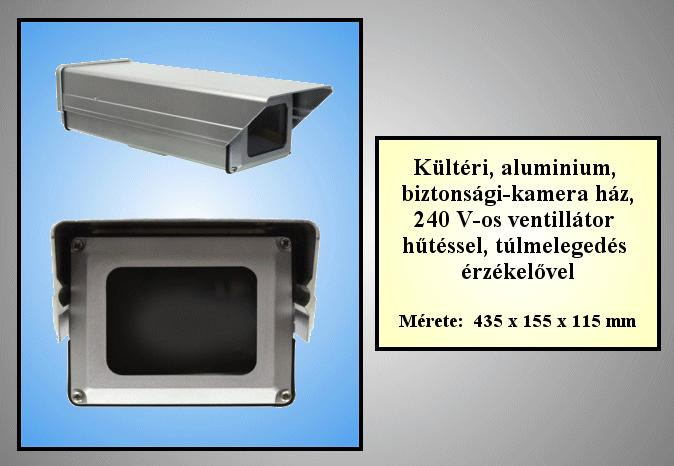Biztonsági kamera ház, fűthető, ventilátoros //SEC. HA 010