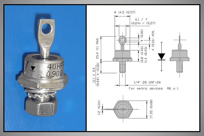 Dióda 1600V 40A/62Arms RECOVERY RECT. 40HF160 40HF160 -