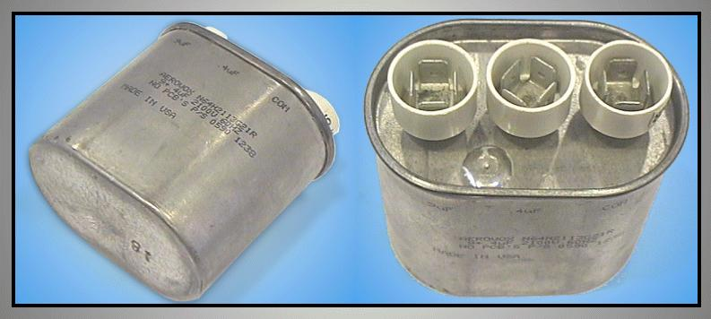 H.V. kondenzátor 0.9uF+0.4uF 2100VAC MW-C0.90+0.4