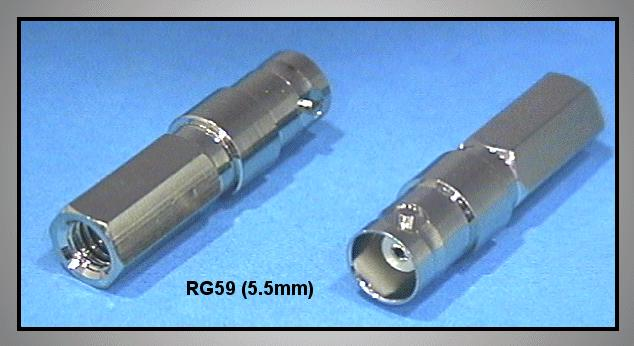 BNC aljzat csavaros Kábel: 5.5mm BNC-004