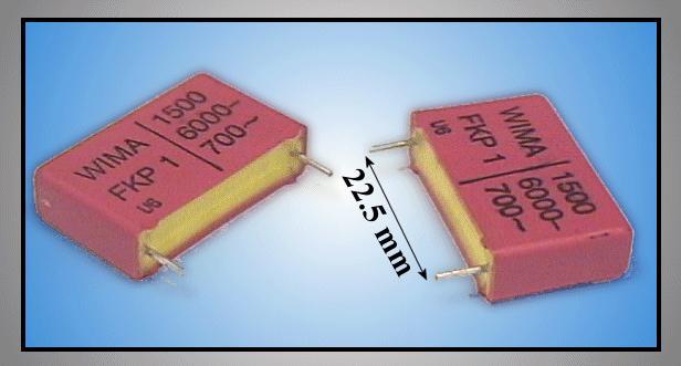 Kondenzátor 1.5nF 6000V Polipropilén RM-22,5 C 1N5 6000V22