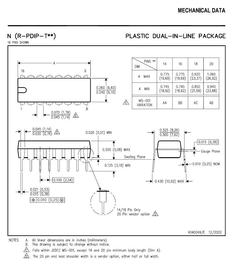 QUAD 2 INP NOR GATE 14p. DIP 74HCT02 -