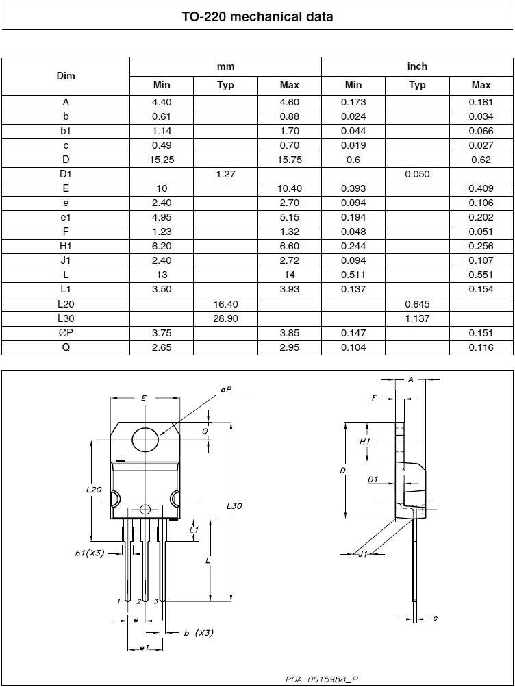 Tranzisztor N-MOSFET 600V 20A/80Ap 192W 0.25R (12.6A) STP20NM60 STP20NM60 -