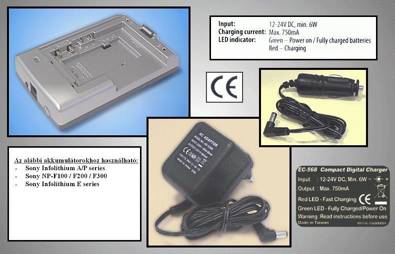 Univerzális Ni-MH kamera akku töltő CAMC.CHARGER/17