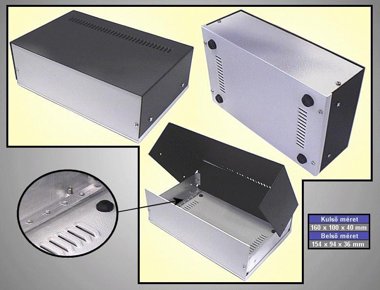 Alumínium műszerdoboz 160x100x40mm BOX M160/100/40