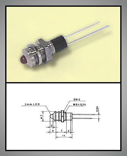 LED foglalat 3mm, nikkelezett RTM-3010