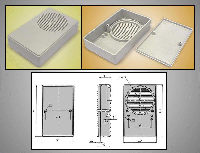 UNIVERSAL BOX 90x55x24mm BOX KM26NB
