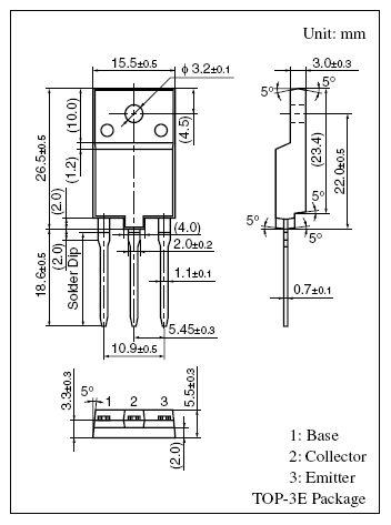 SI-N 1700/600V 15A/30Ap. 100W 0.2uS 2SC5423