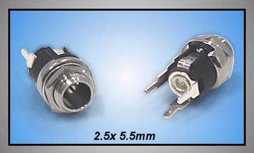 DC aljzat 2.5x5.5mm (csavaros) PCB CSAT-P008/2.5P