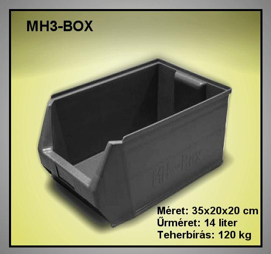 Tároló doboz HM3-Box II.oszt. 350x200x200mm BOX MH3