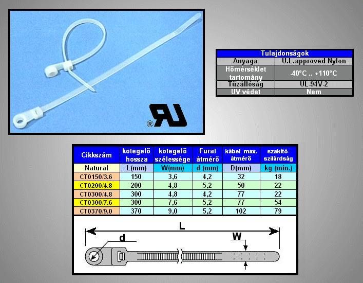 Cs.Kötegelő színtelen 150x3.6mm 18kg CT0150/3.6-CS