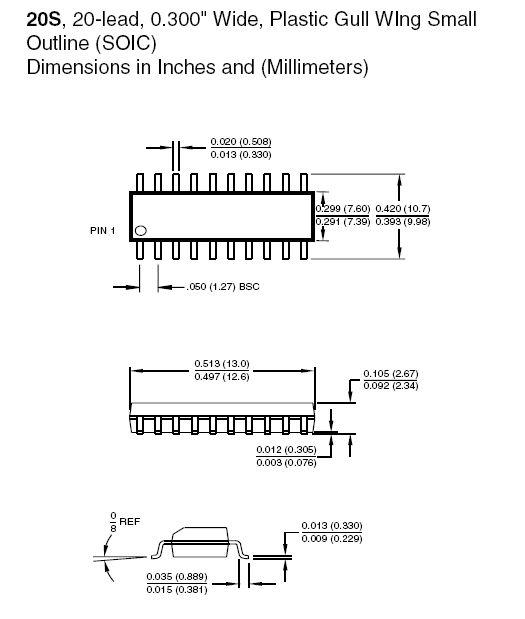 8-Bit 4K 24MHz MICROCONTR.20p 89C4051-24SI