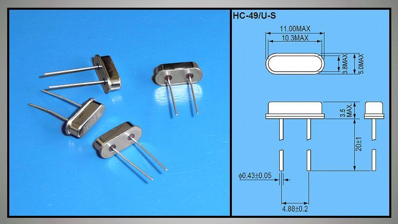 QUARTZ 24.000.000 MHz HC49/U4S 24.00 HC49/S